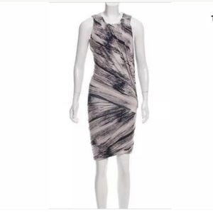 Torn By Ronny Kobo Black/Gray Ruched Bodycon